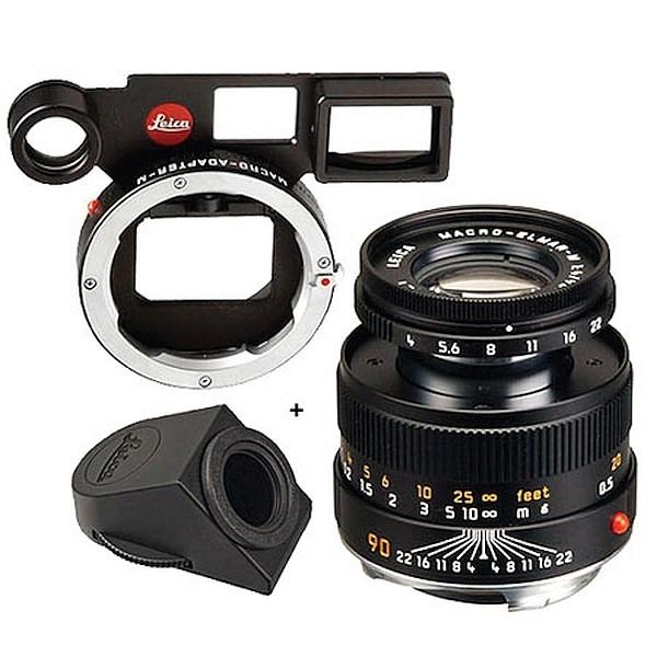Leica ELMAR-M 90mm F4 Macro-Set (Winkelsucher + Macro-Adapter) 11629  NEW
