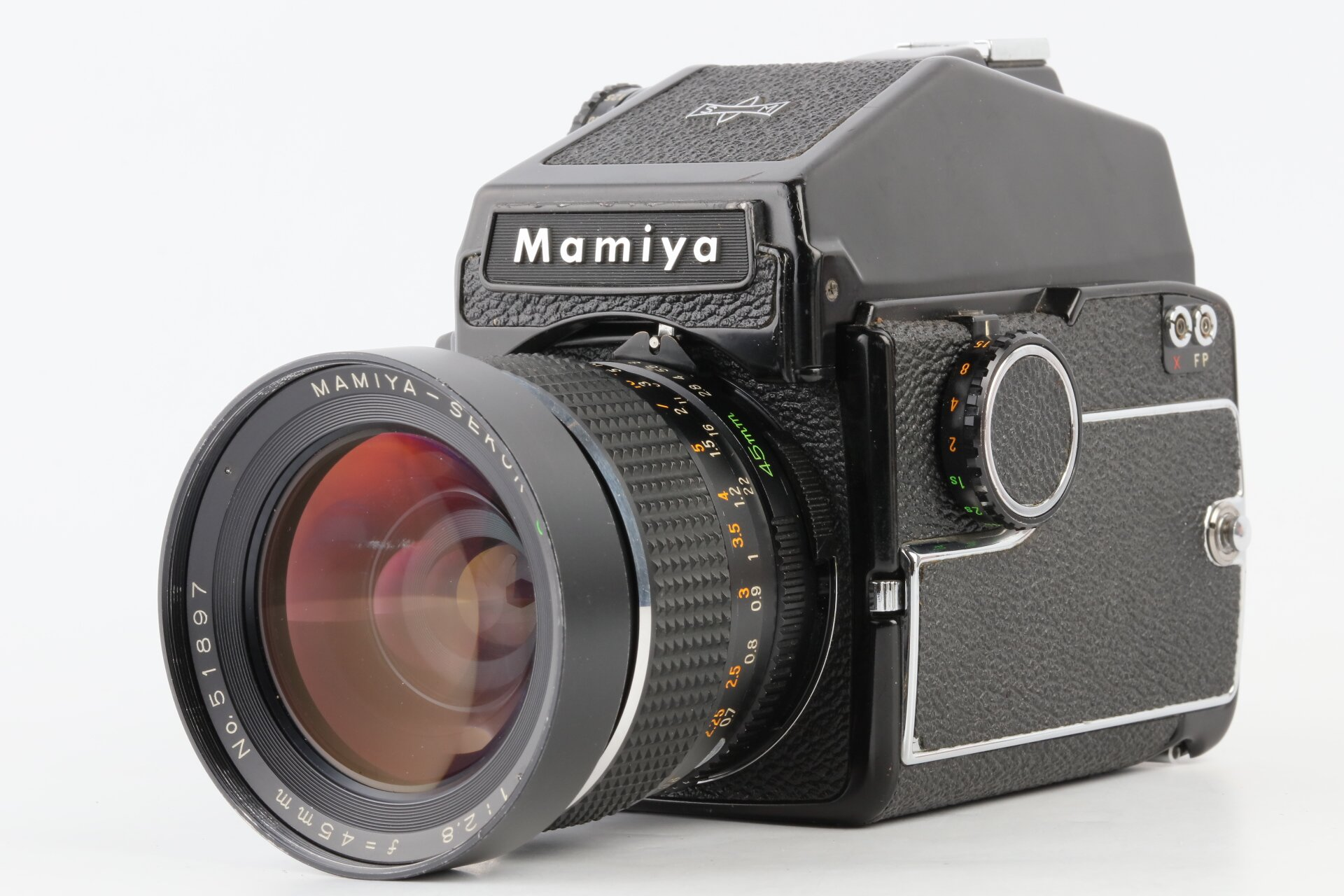 Mamiya M645 Gehäuse Mamiya-Sekor C 2,8/45mm Objektiv