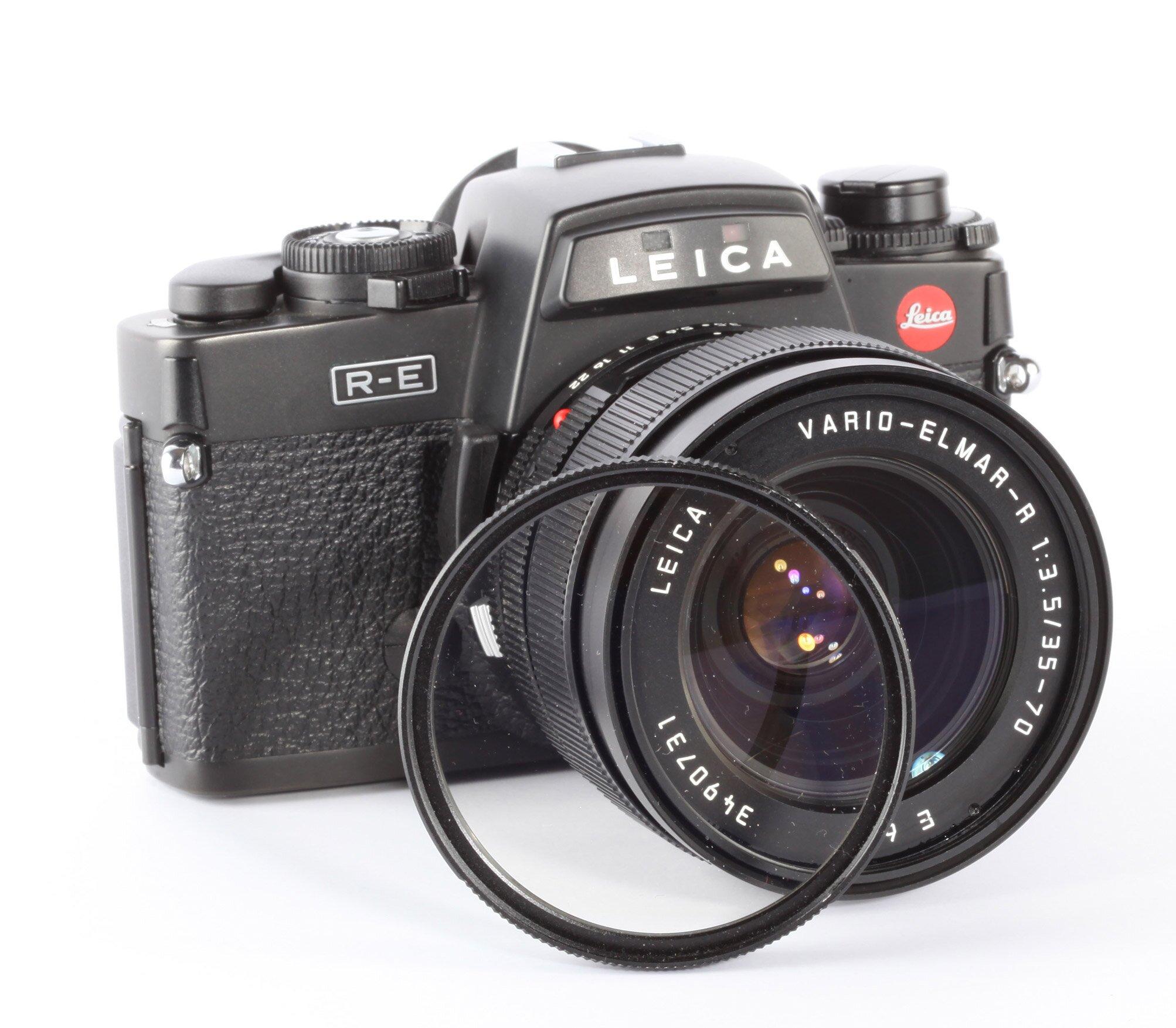 Leica R-E + Leica Vario-Elmarit 3,5/35-70mm