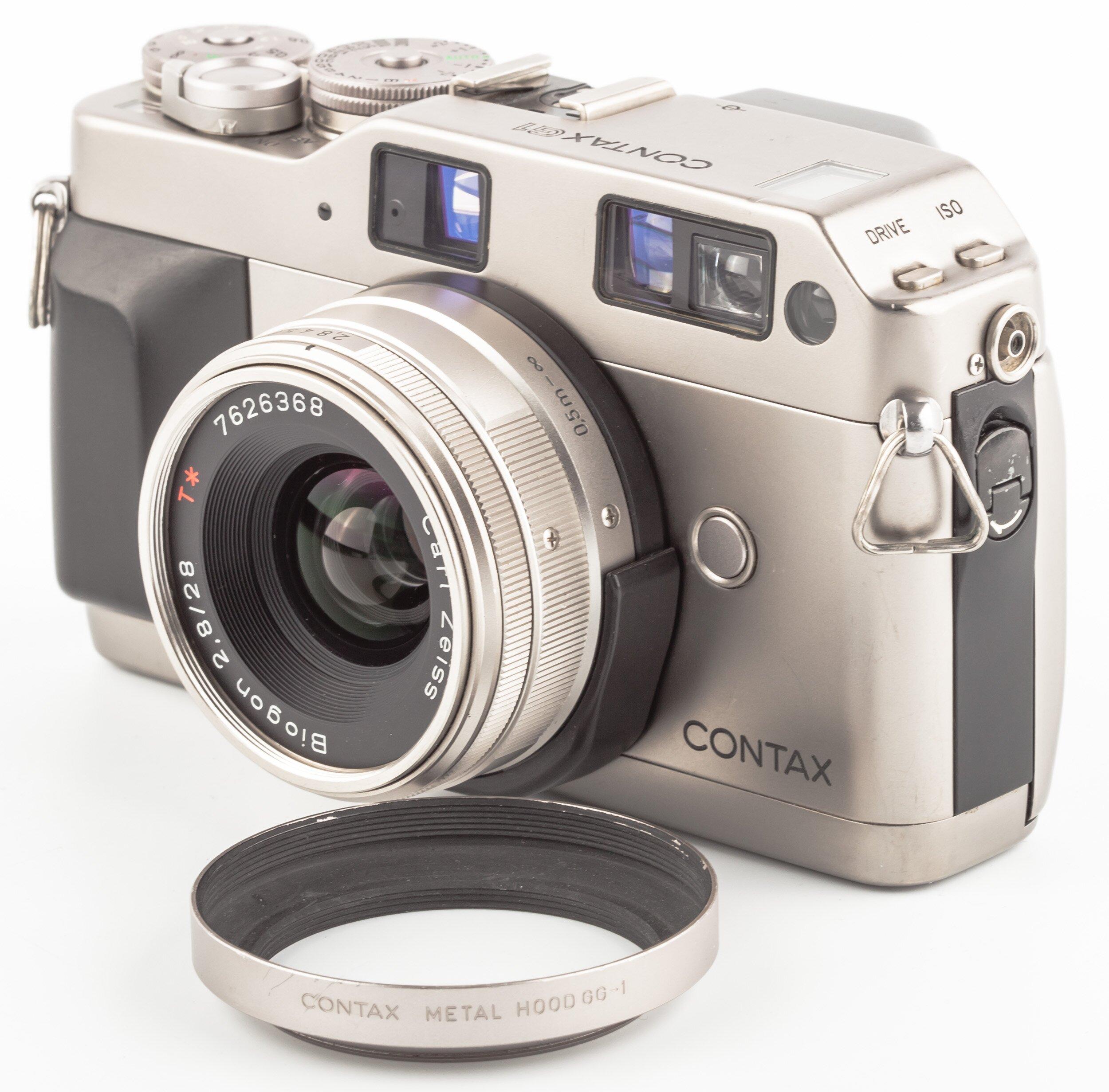 Contax G1 mit Carl Zeiss Biogon 2,8/28mm chrom