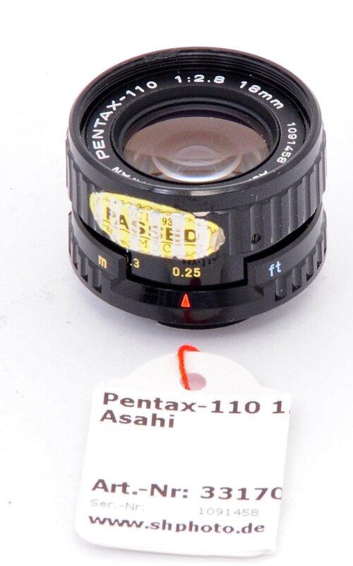 Pentax-110 1.2,8/18mm Asahi