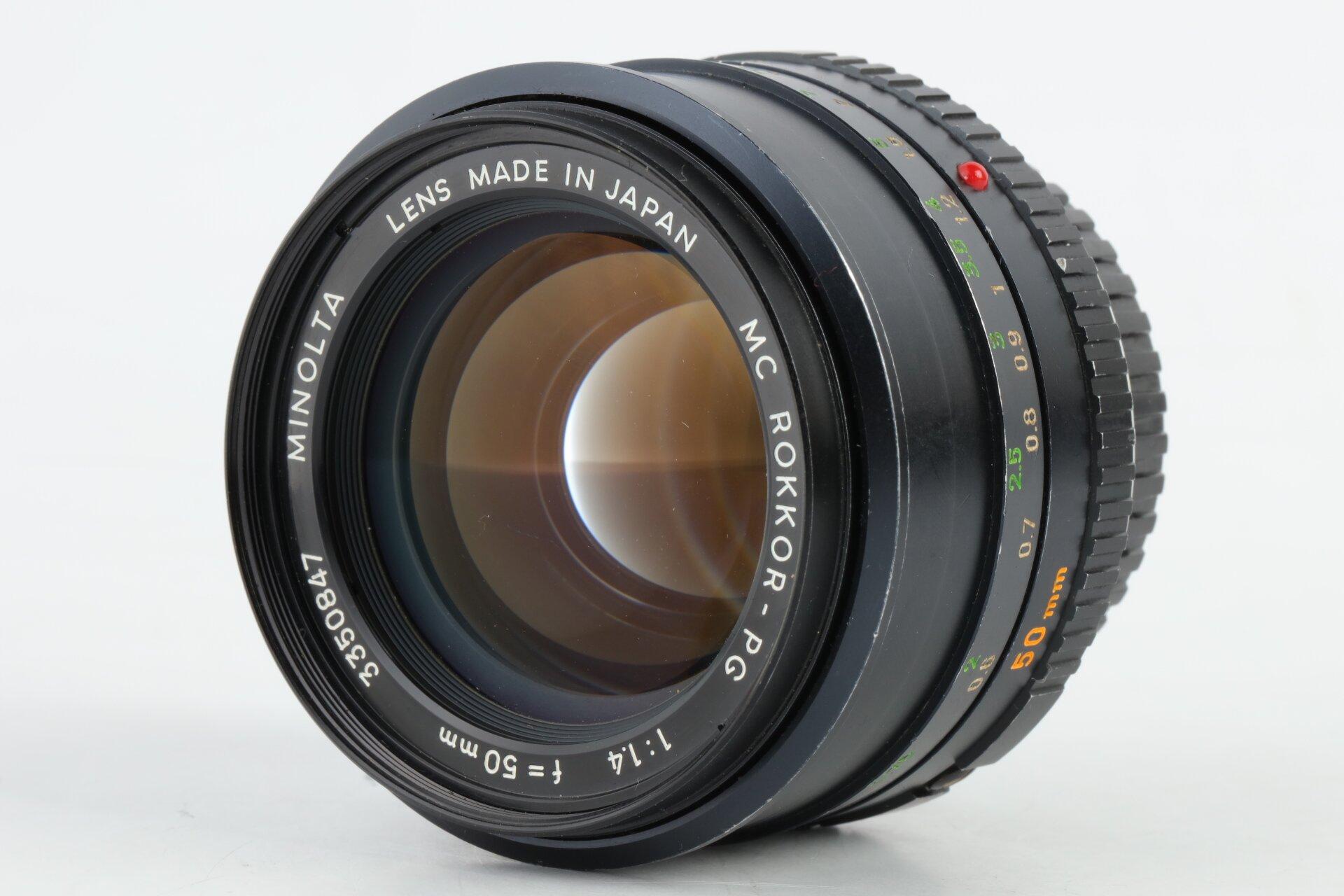 Minolta MD MC Rokkor-PG 1,4/50mm
