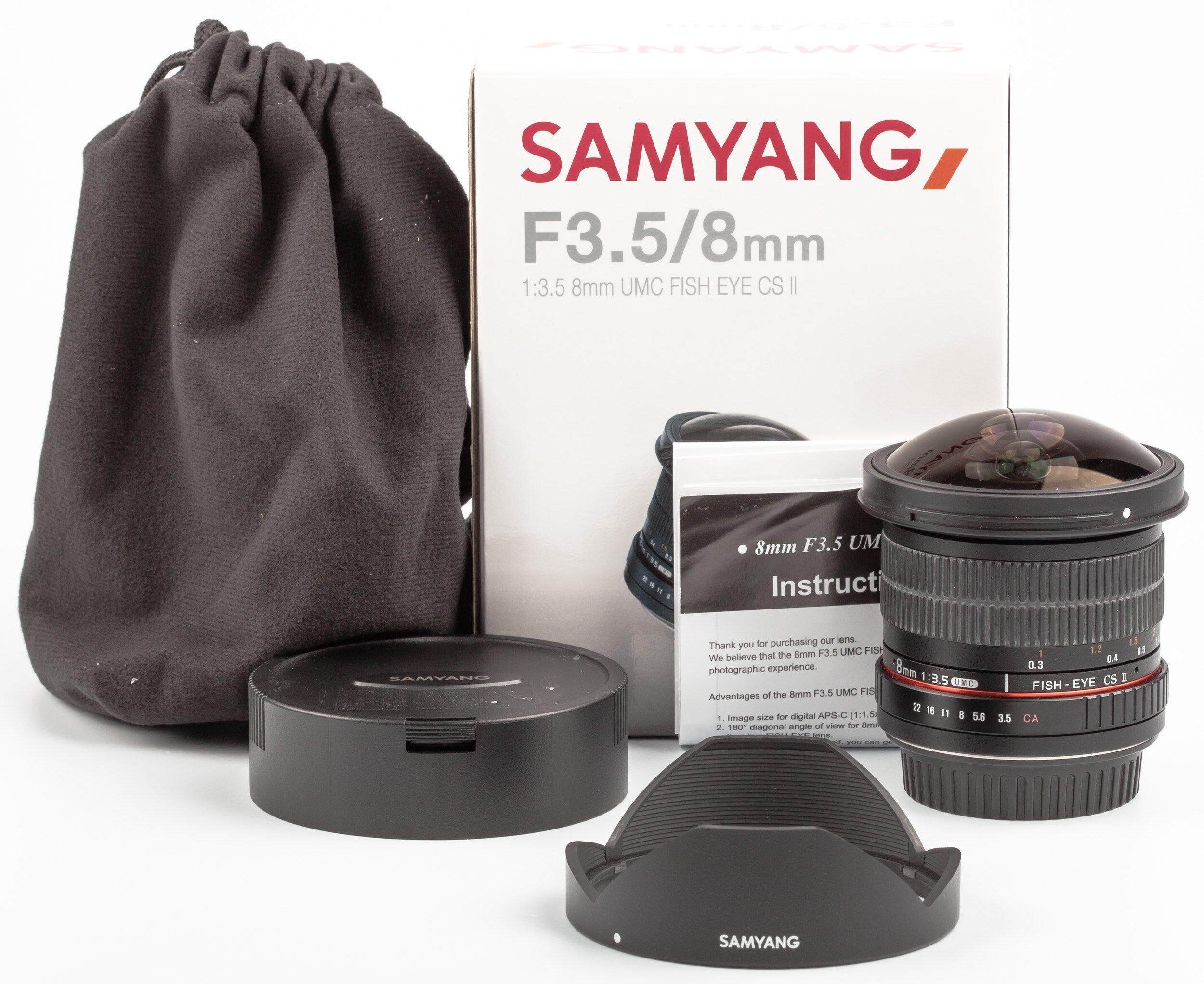 Samyang 8mm F3.5 Fish-eye Canon EOS