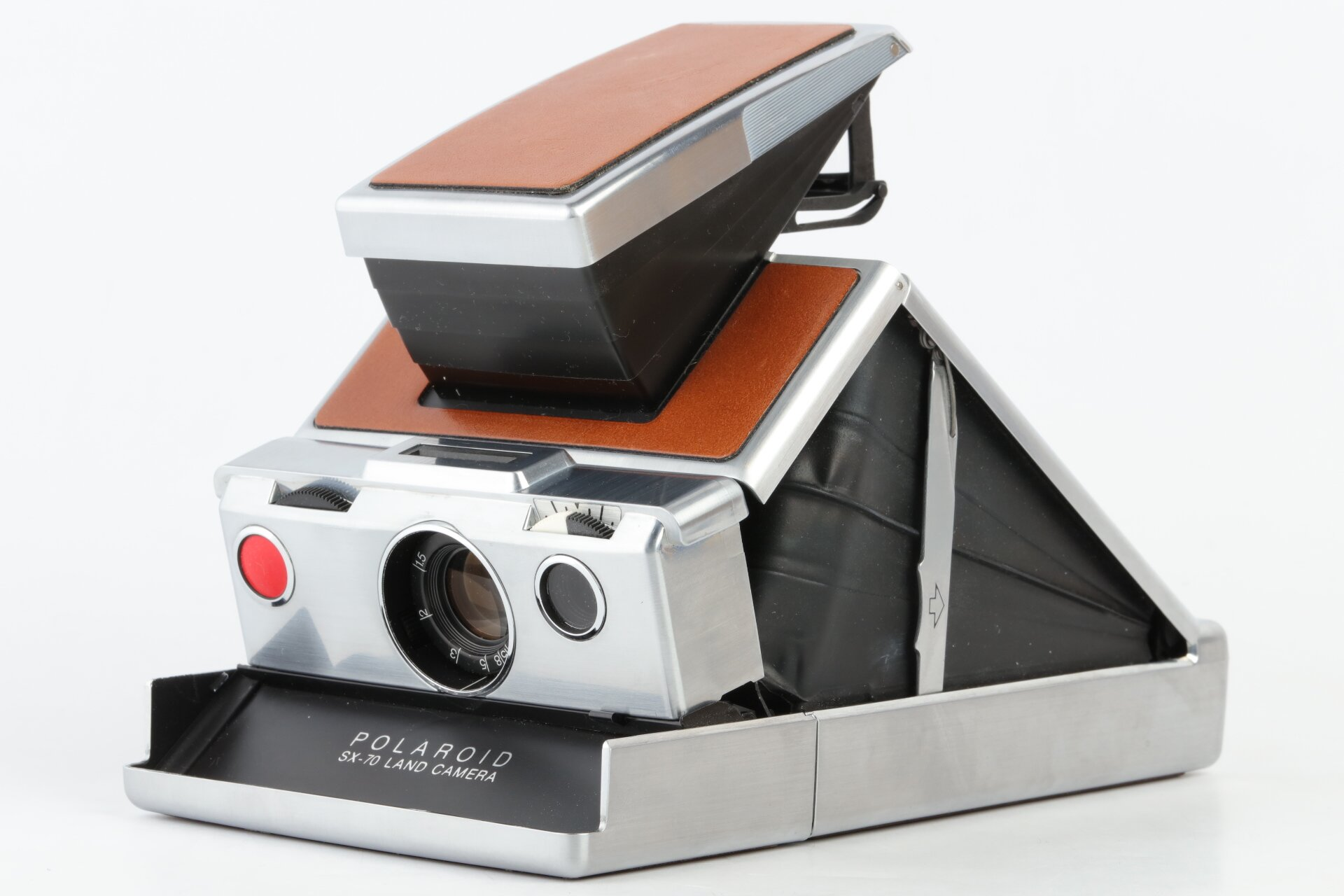 Polaroid SX-70 LAND CAMERA silber/braun