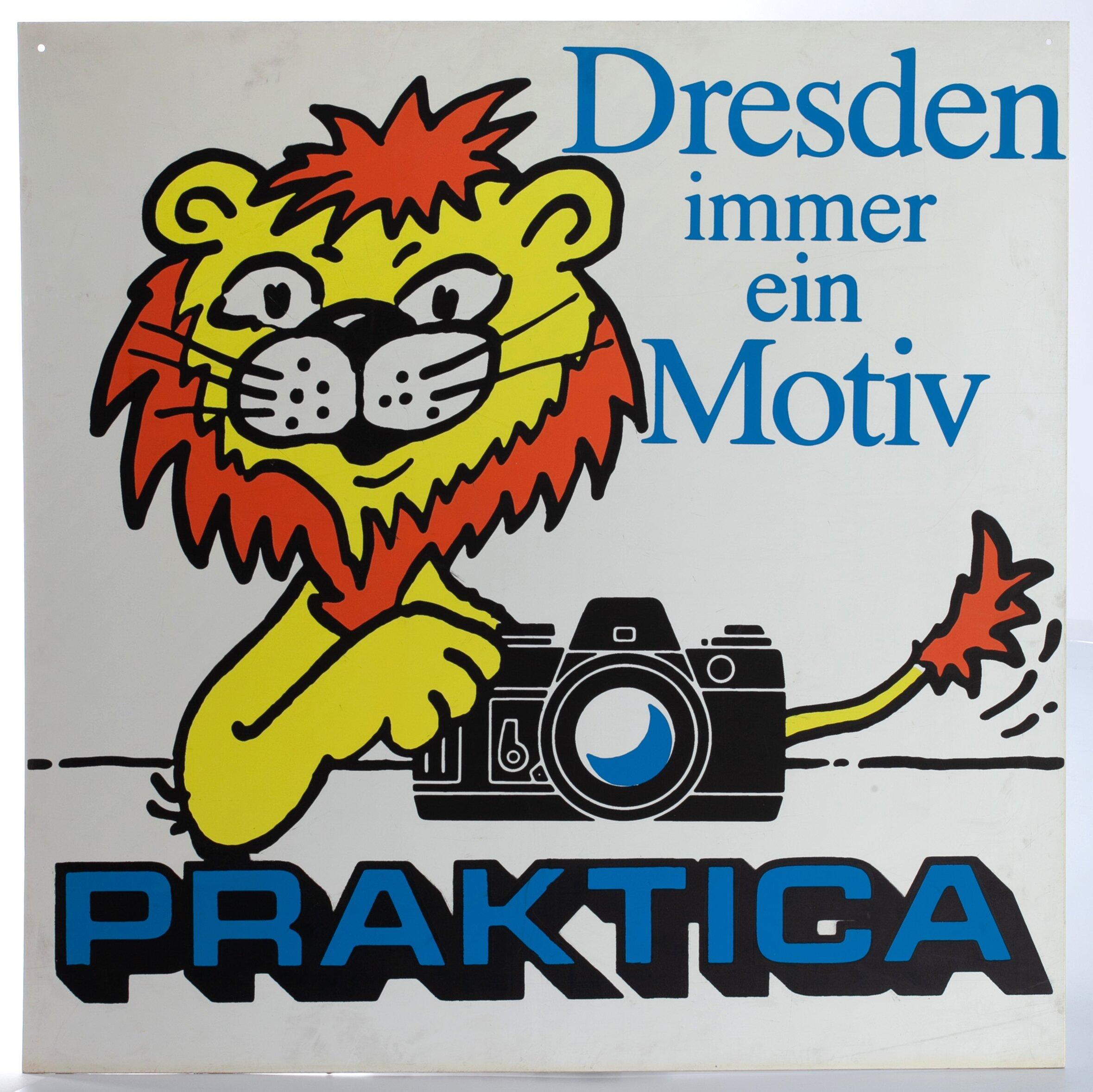 """Praktica """"Dresden immer ein Motiv"""" Praktica Werbung 90x90cm"""