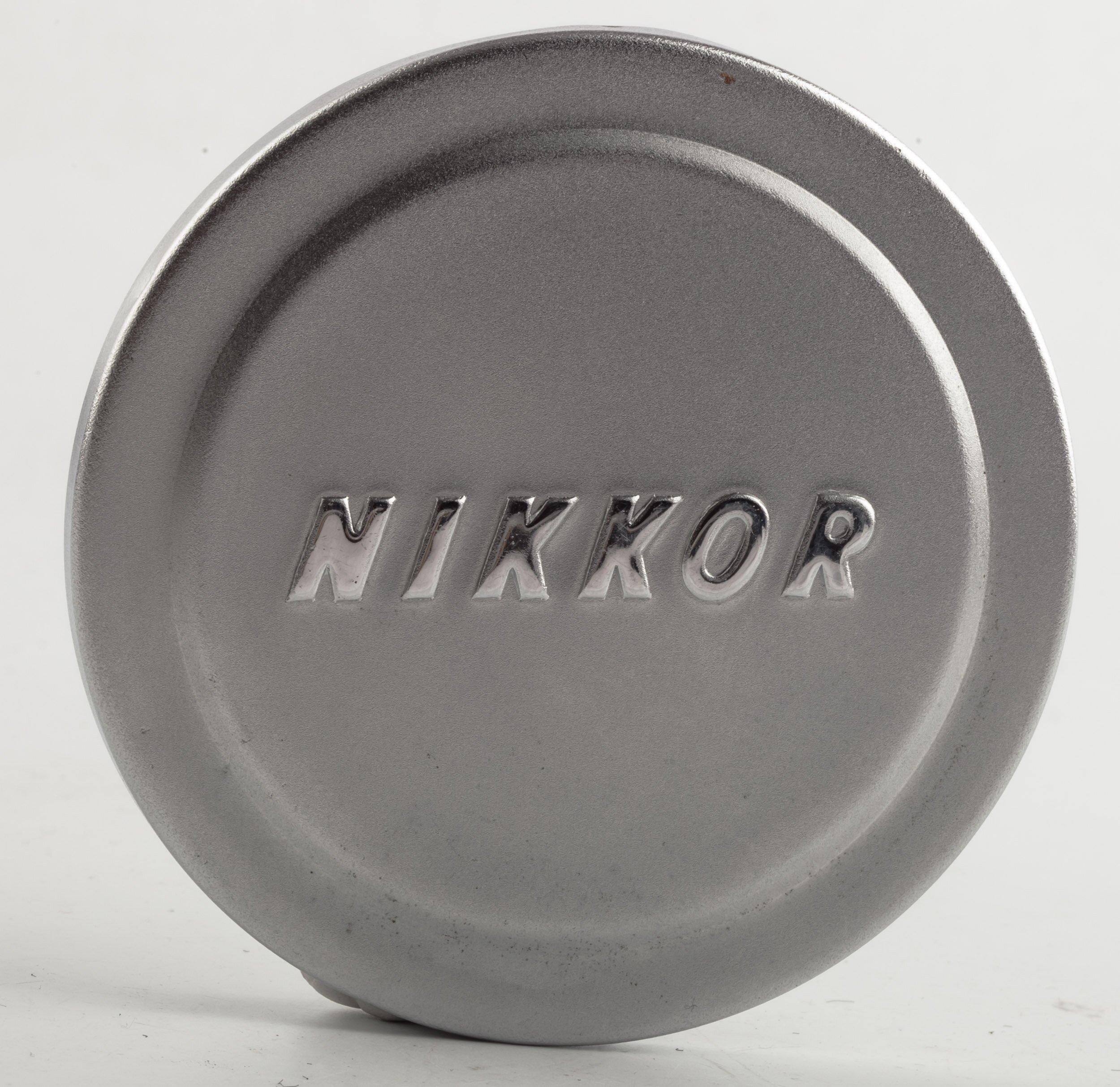 Nikon Nikkor Objektiv-Deckel silber Metall Ø100mm