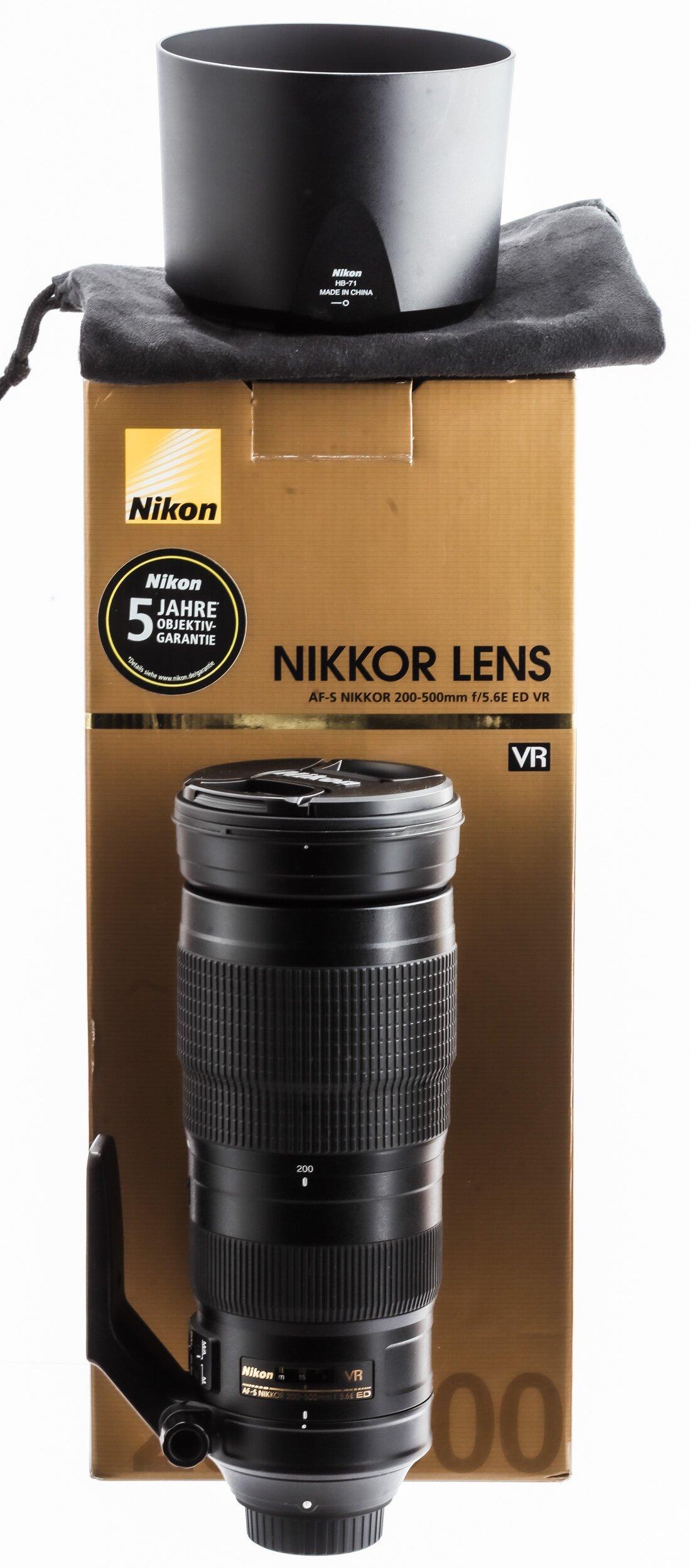 Nikon AF-S Nikkor 200-500mm/5,6 E ED VR