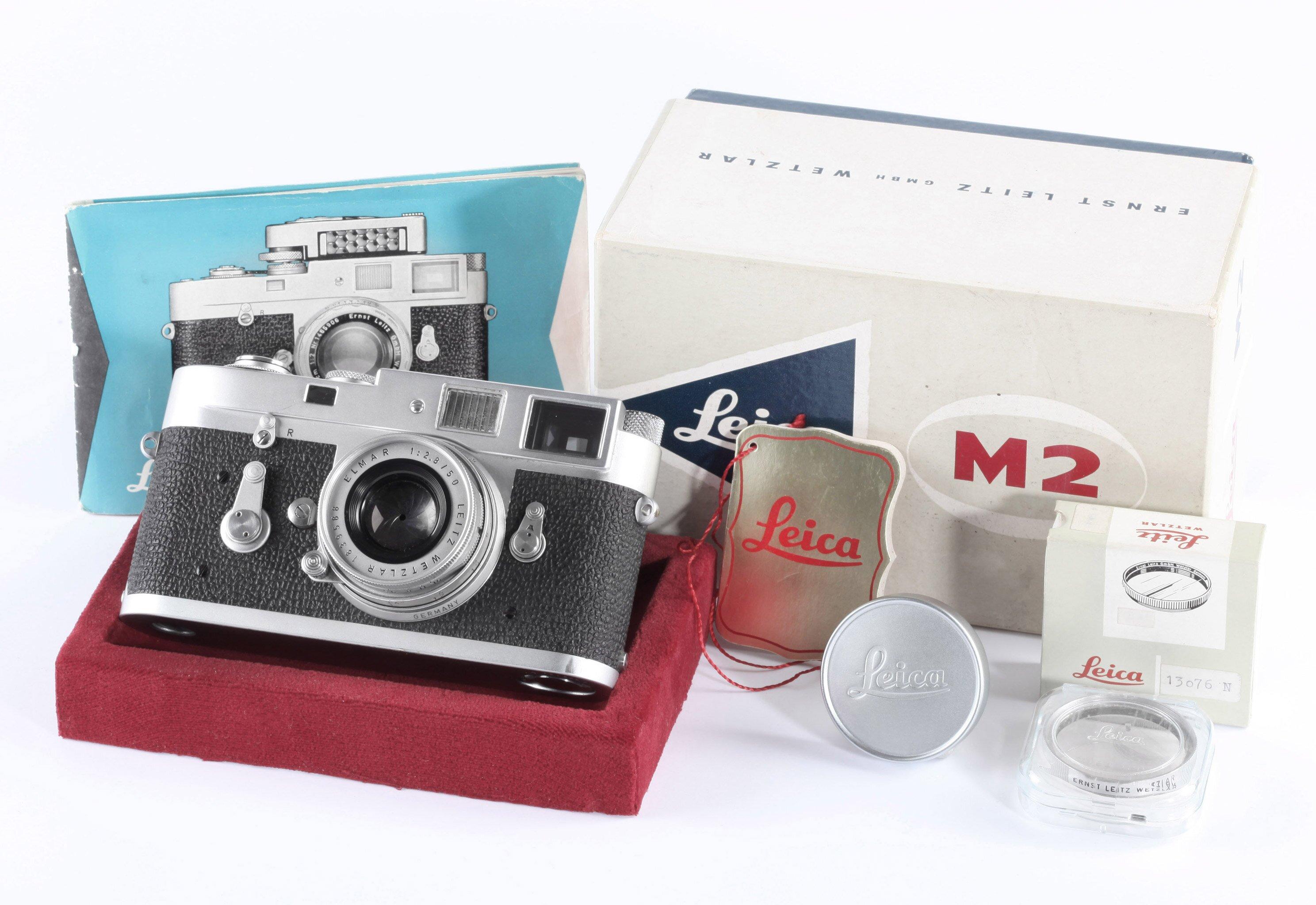 Leica M2 mit Elmar 50mm f2.8 OVP FULL WORKING