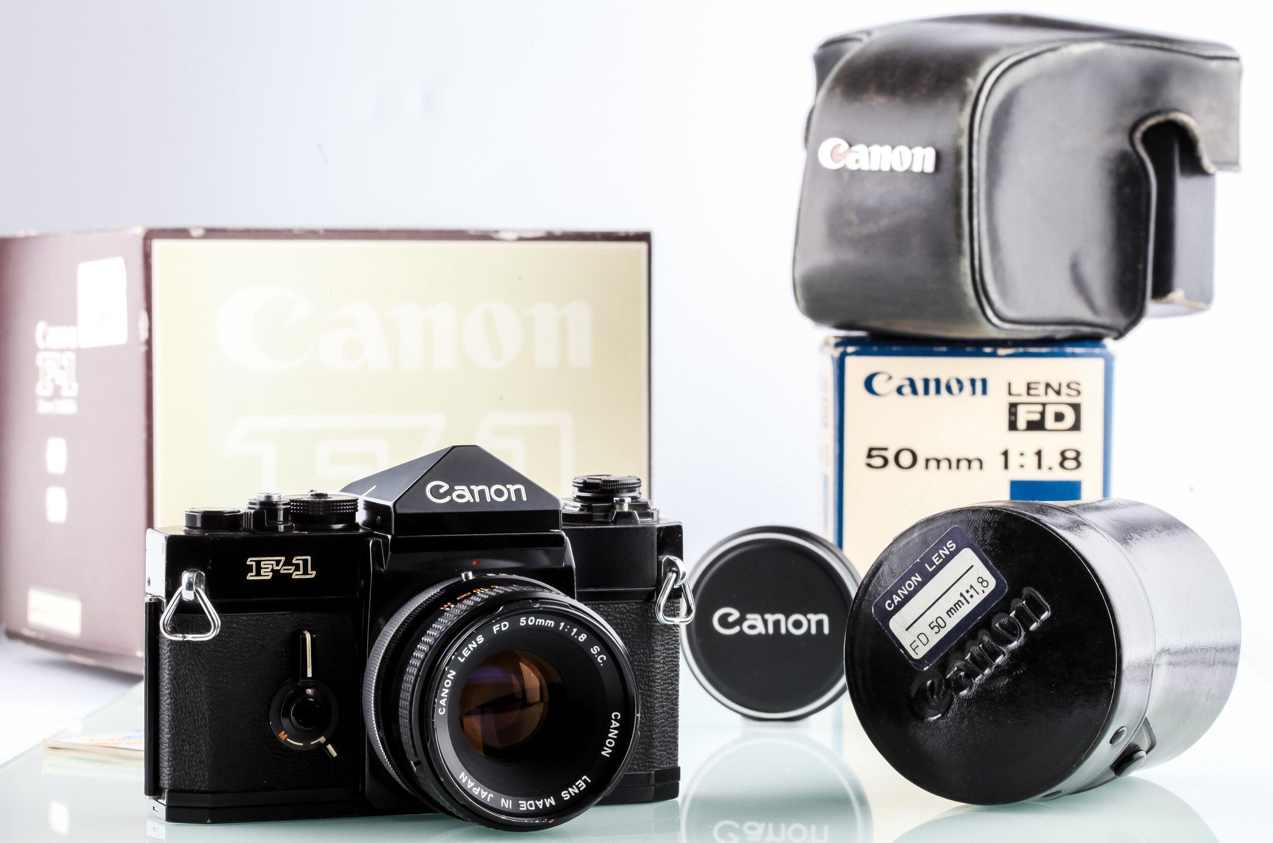 Canon F-1 + Canon FD 50mm 1,8