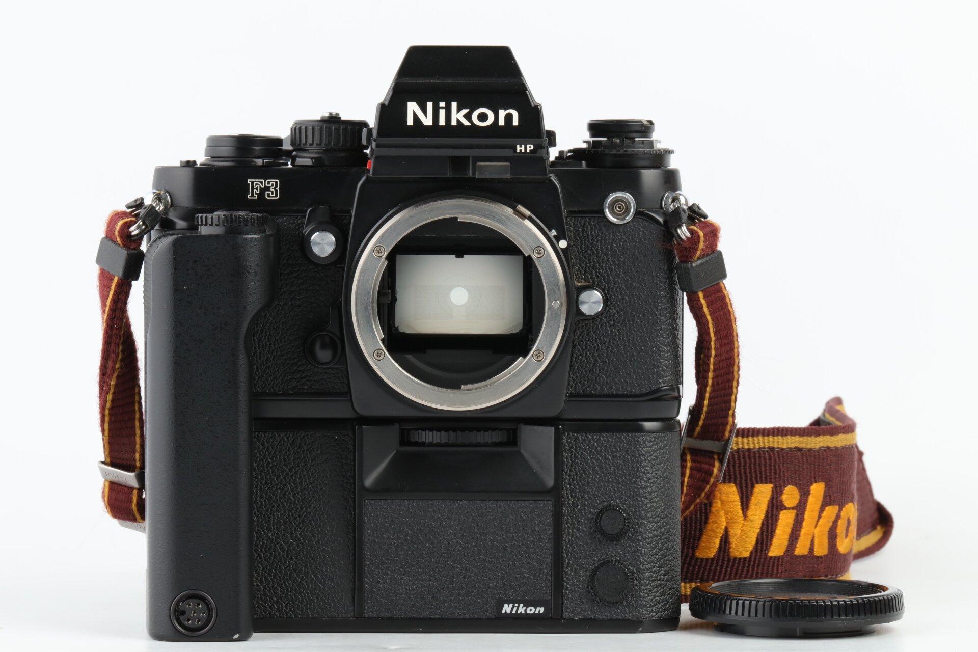 Nikon F3 HP Gehäuse + MD-4 Motor Drive