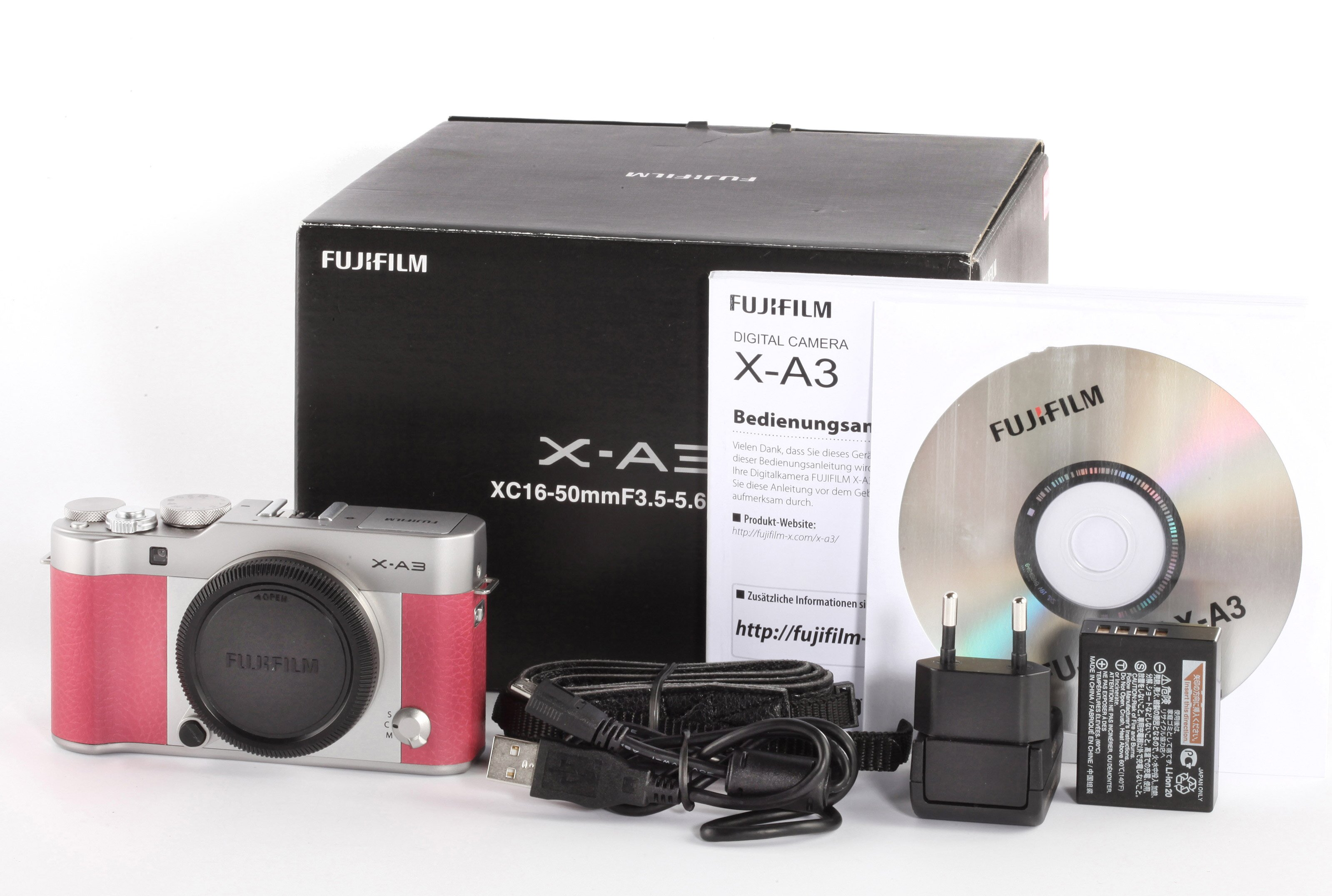 Fujifilm X-A3 Gehäuse pink rose
