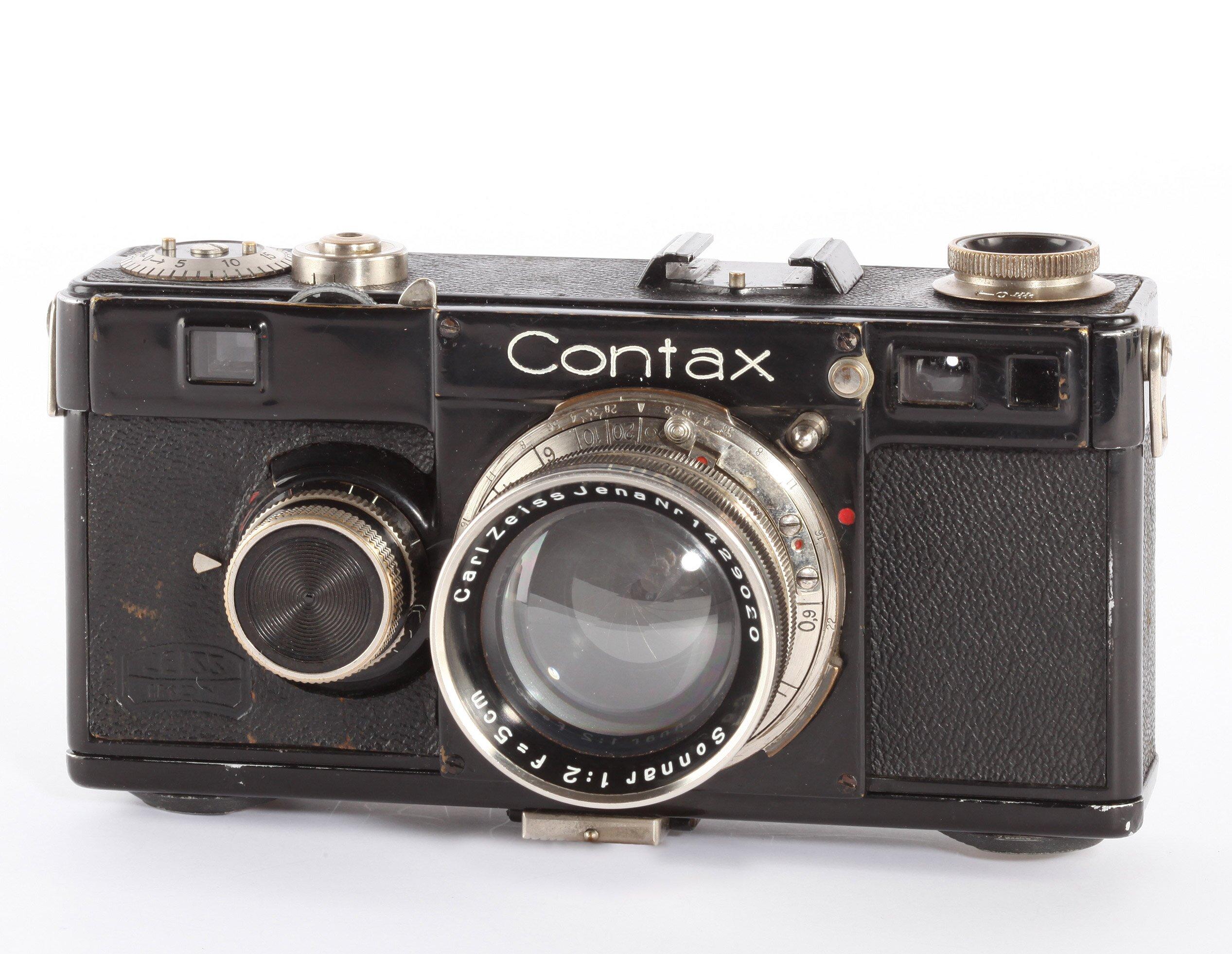 Contax I schwarz mit Zeiss Starr Sonnar 2/50mm Schwarz Nickel 1935