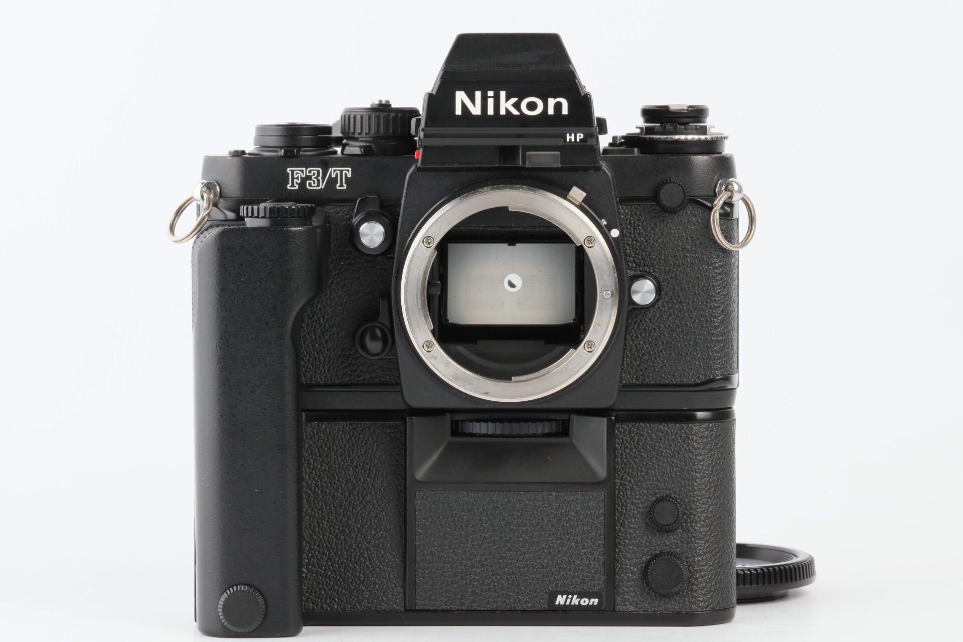 Nikon F3/T HP Gehäuse schwarz mit MD 4