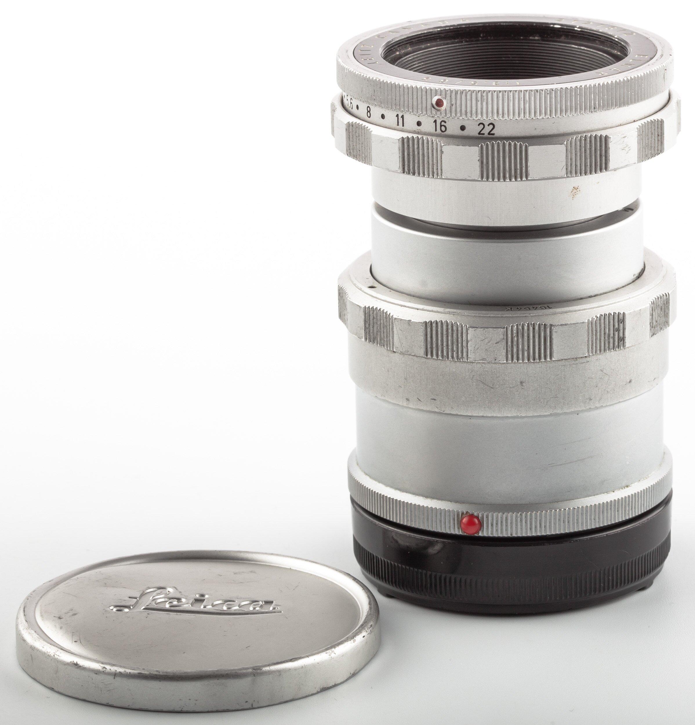 Leica Elmar 3,5/65mm Visoflex Macro #11062 mit Focus Mount All #16464k