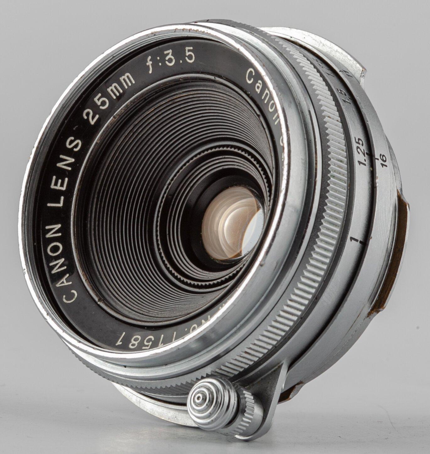 Canon Rangefinder 25/3.5 Lens for Canon RF 3.5/25mm  Canon Lens very Rare!