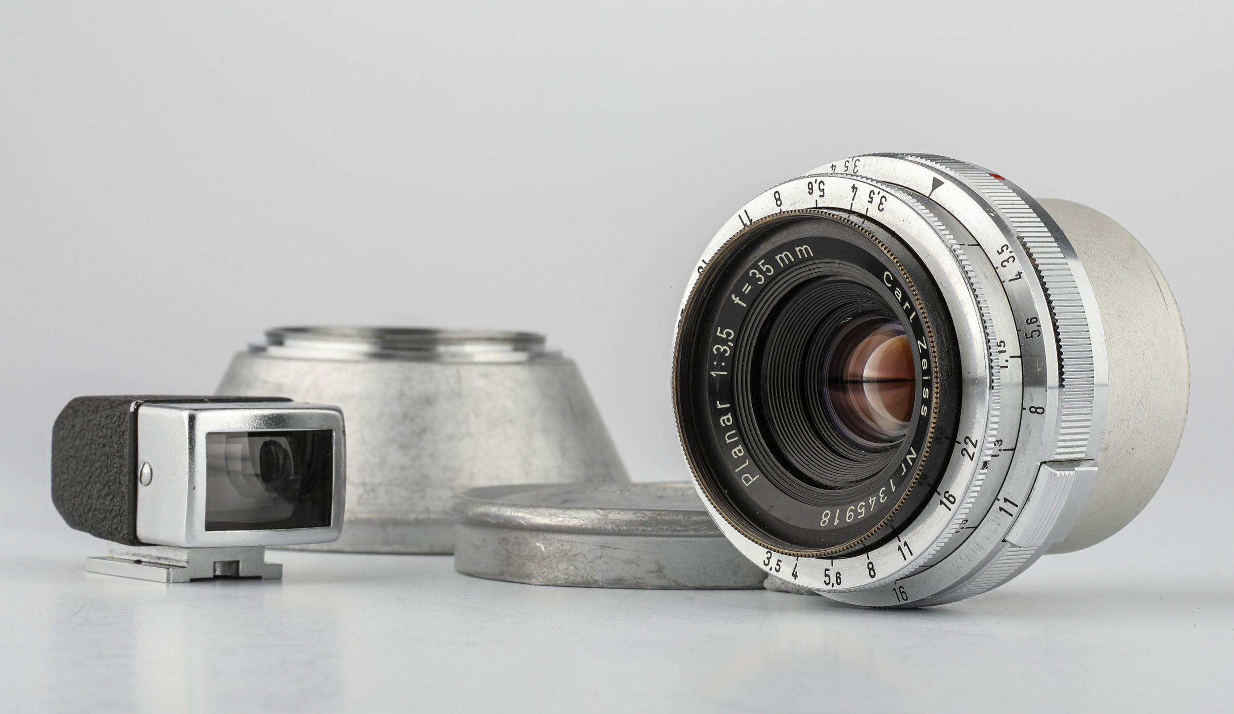 Carl Zeiss Planar f.Contax RF 3,5/35mm chrom