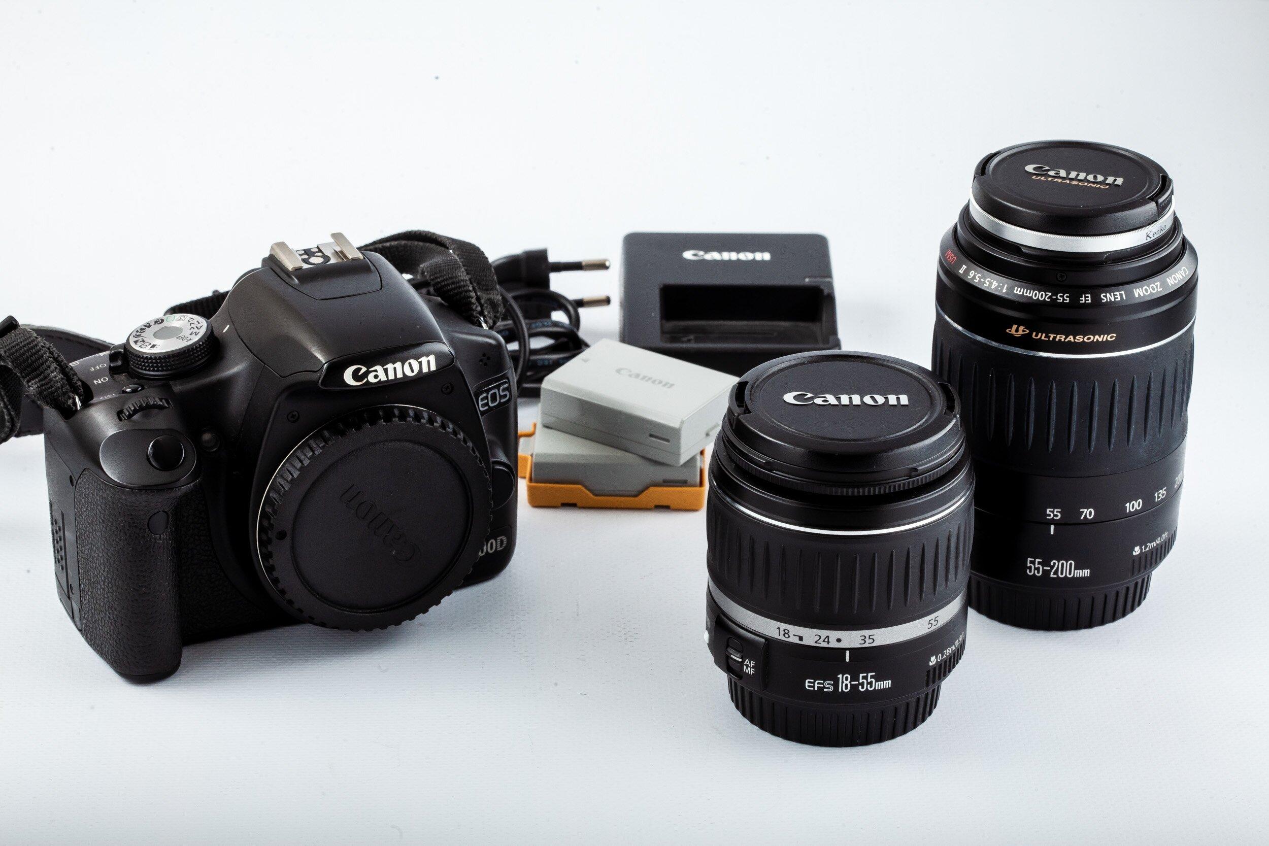 Canon 500D Set 18-55mm 55-200mm