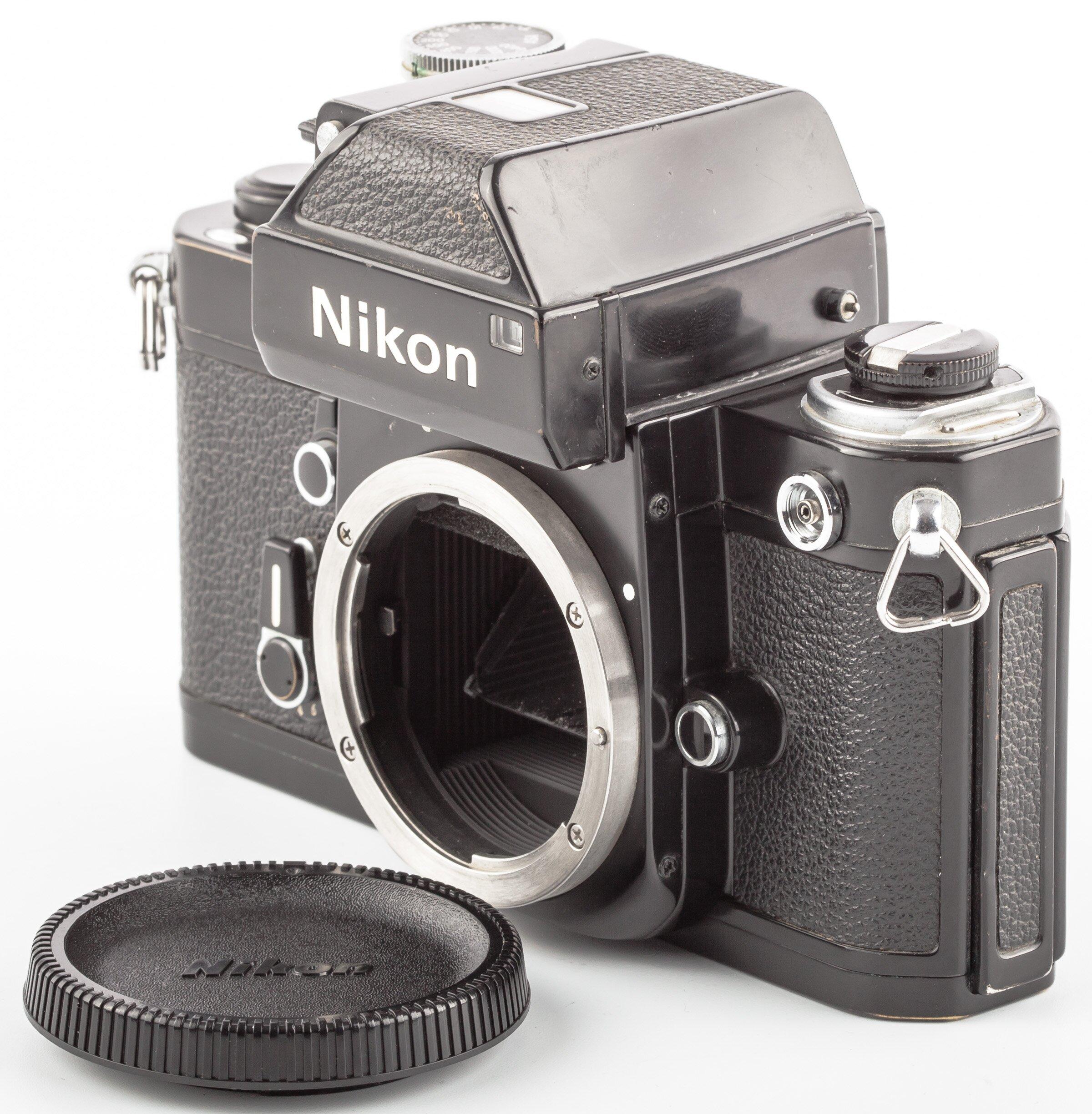 Nikon F2 mit DP-1 Gehäuse schwarz