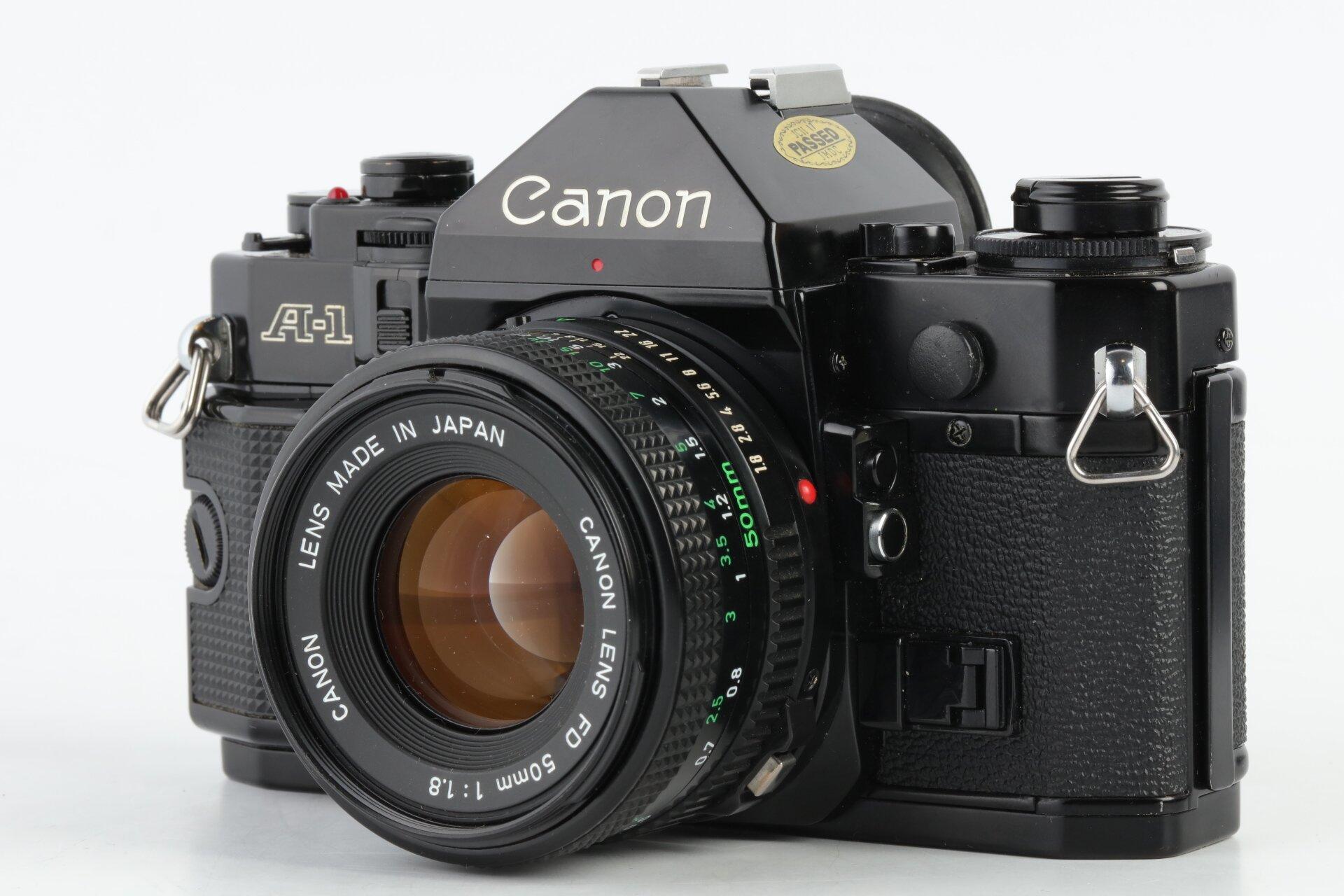 Canon A-1 mit Canon FD 50mm 1,8