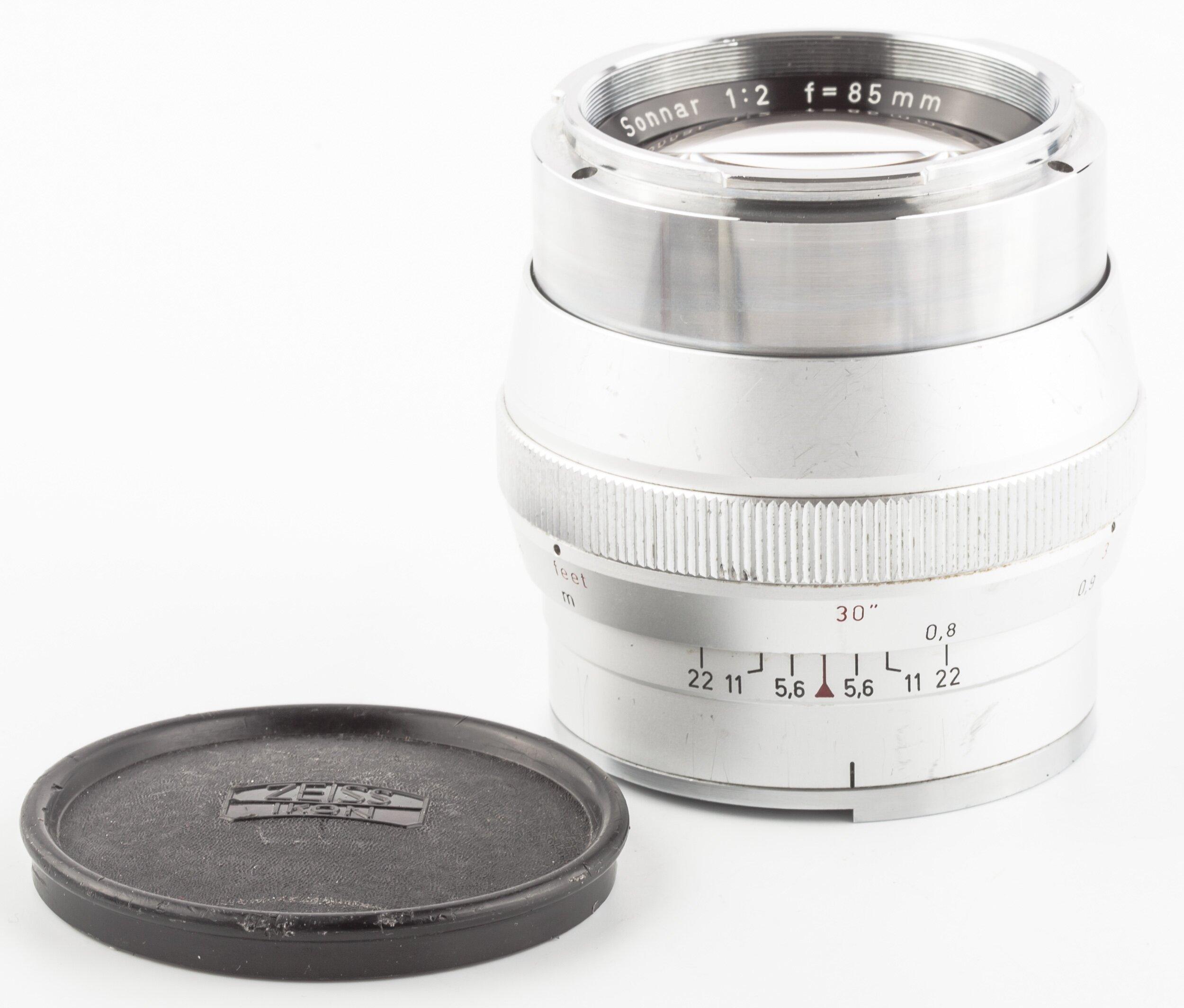 Carl Zeiss Sonnar 2/85mm Contarex silber