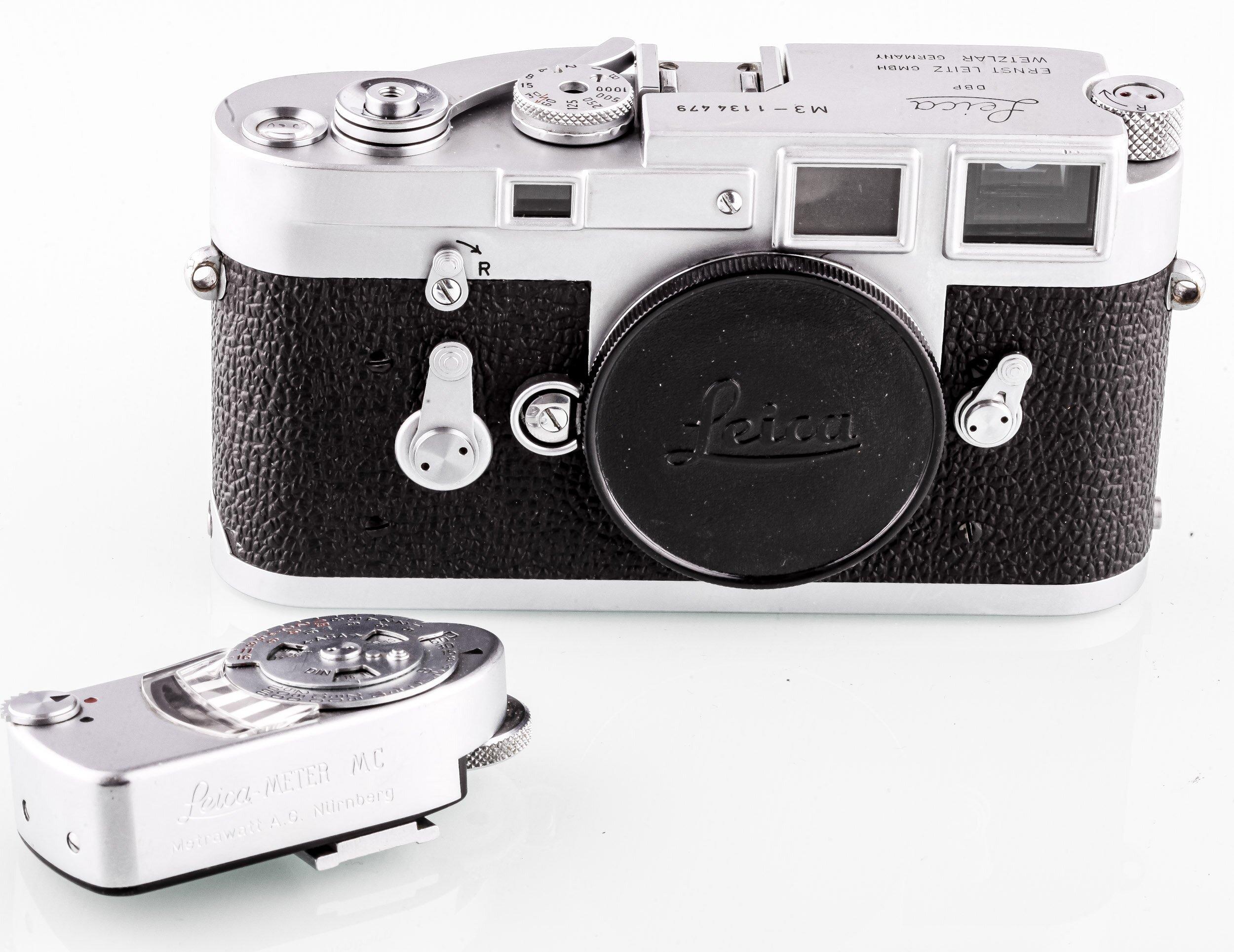 Leica M3 gehäuse chrome mit Leica MC