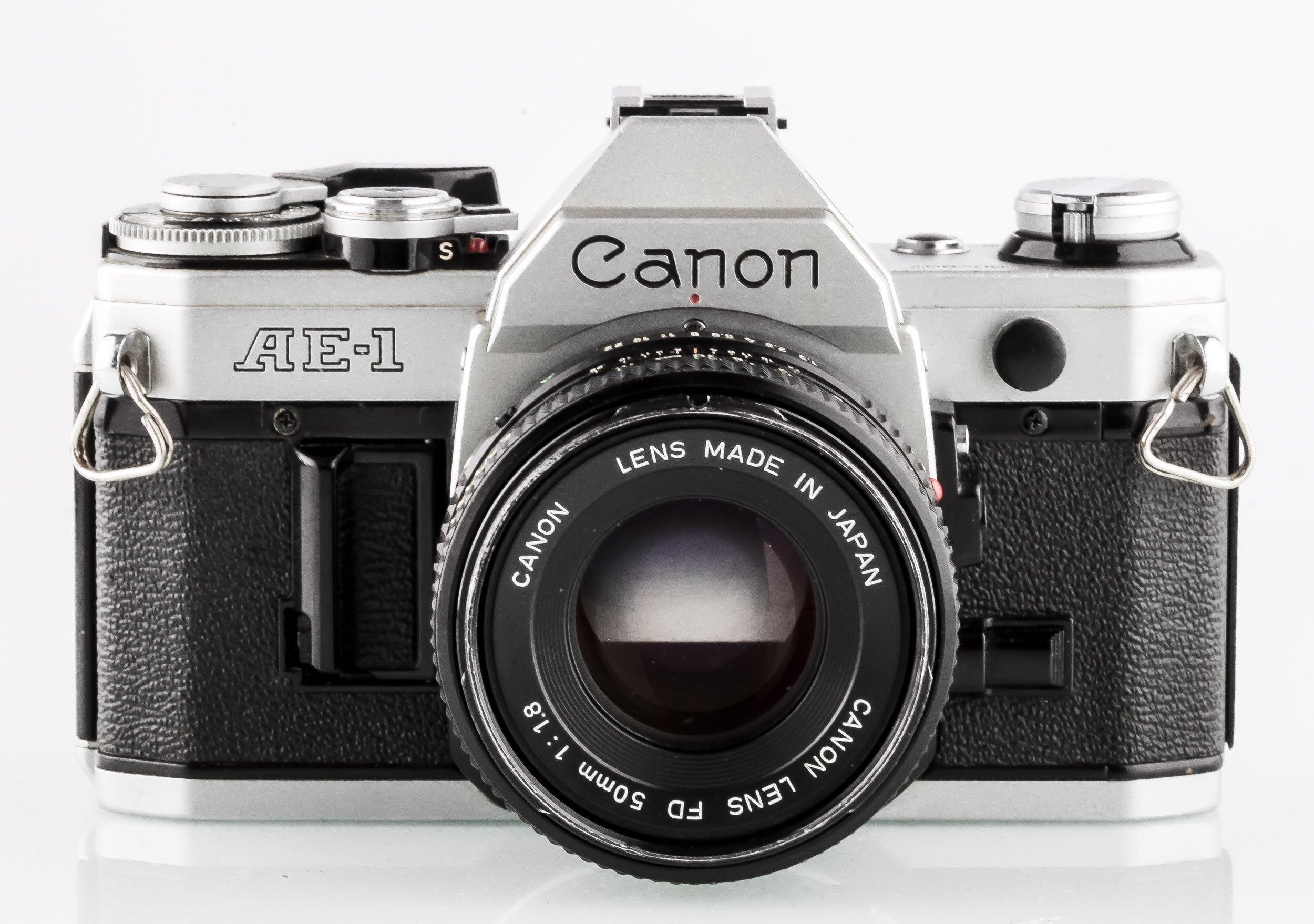 Canon AE-1 mit Canon FD 1,8/50mm