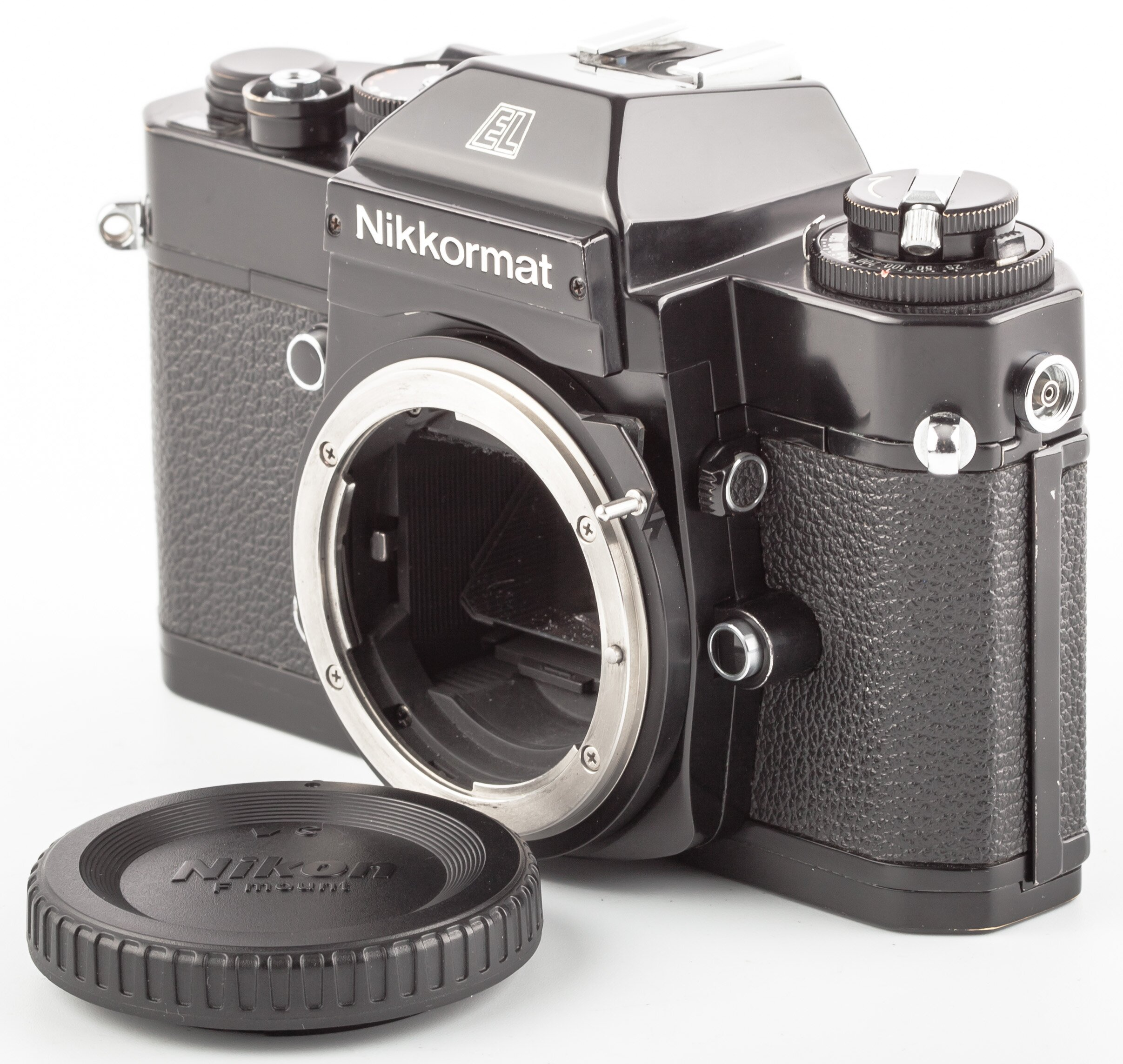 Nikon Nikkormat EL schwarz Gehäuse