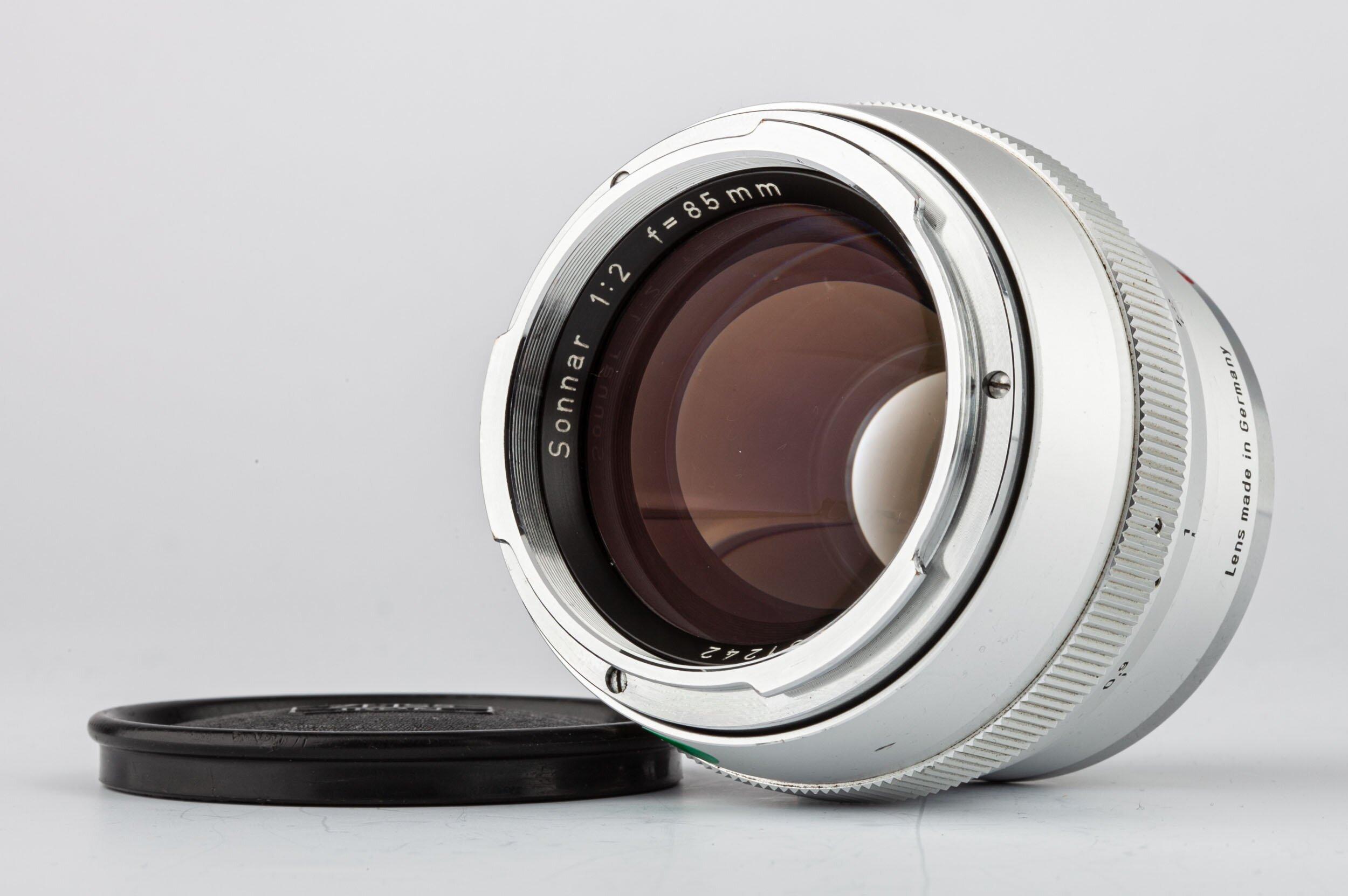 Carl Zeiss Sonnar 2/85mm silber Contarex