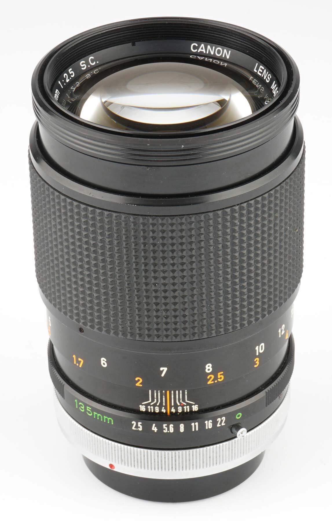 Canon FD 135mm F2.5 SC