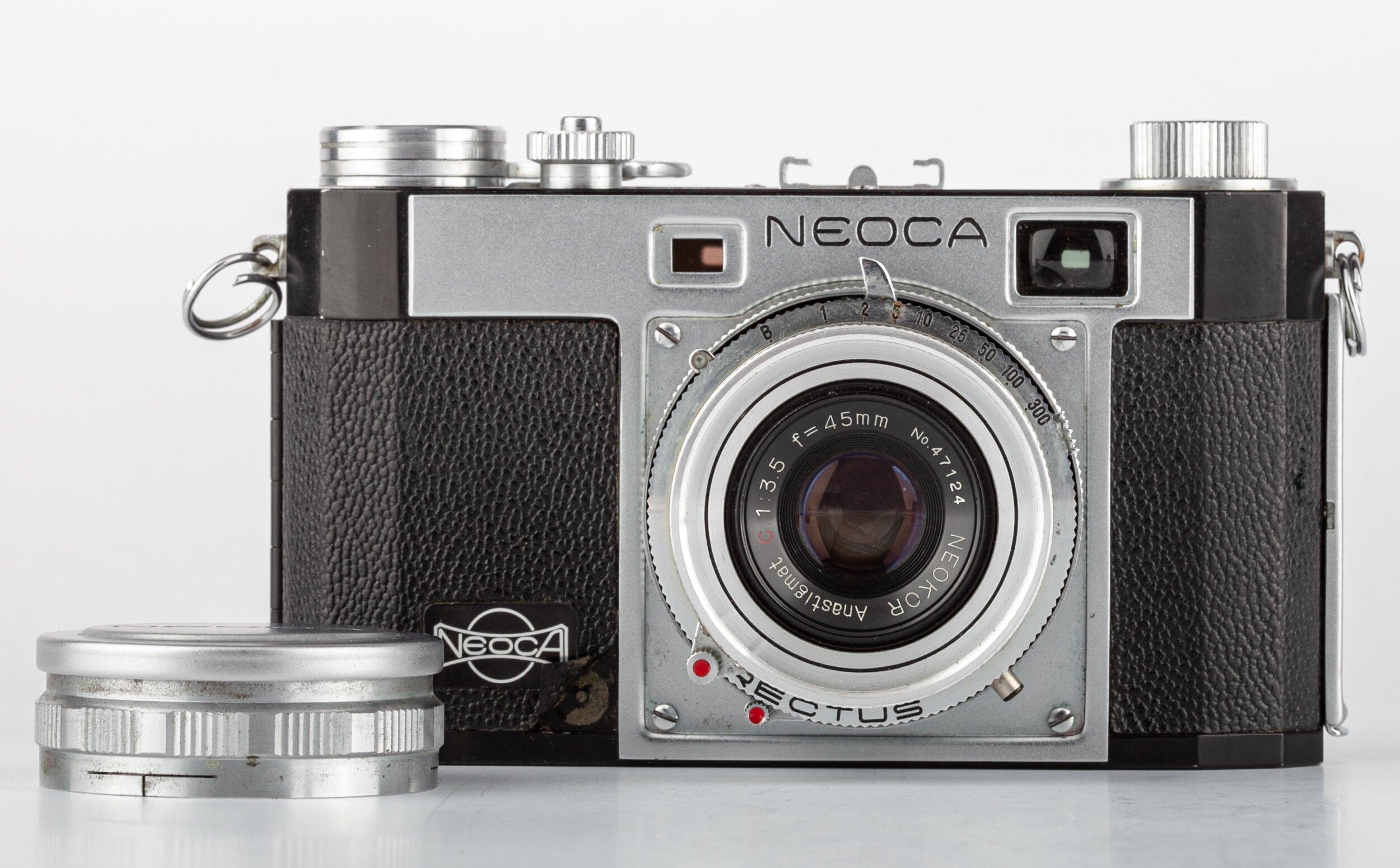 Neoca 2S  35mm Messsucherkamera mit Neokor 3,5/45mm 1955/1956  Japan