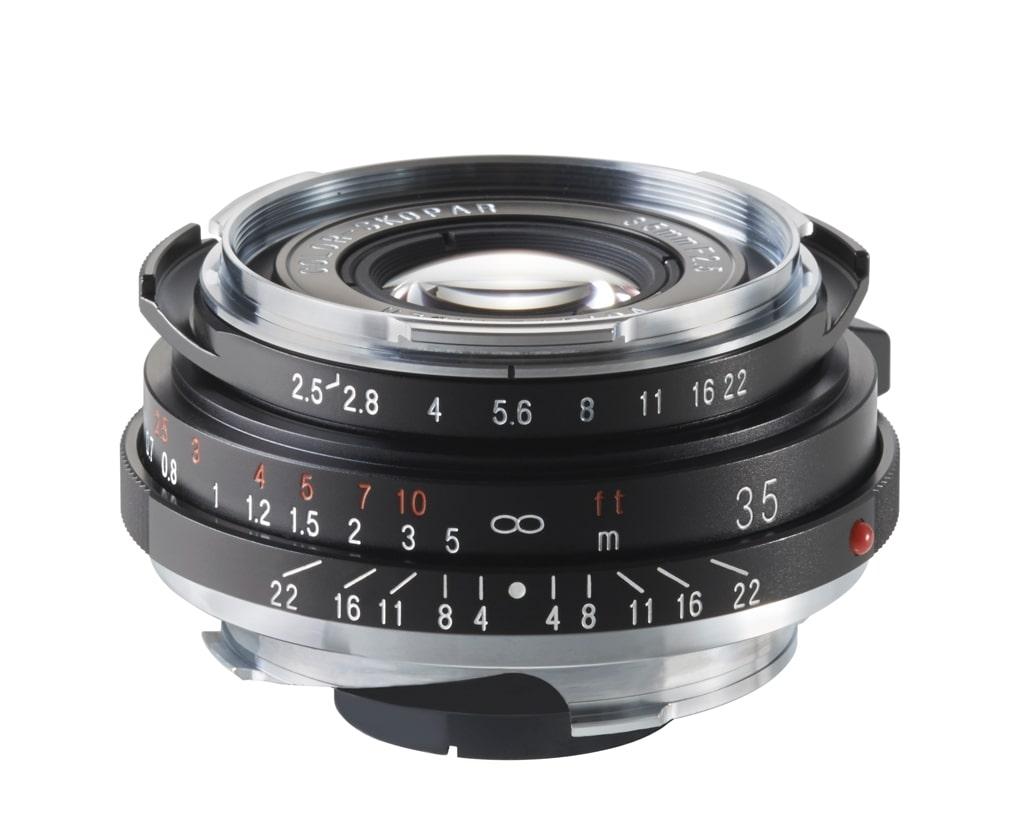 Voigtländer VM 35mm 2,5 Color Skopar Pancake II Leica M schwarz