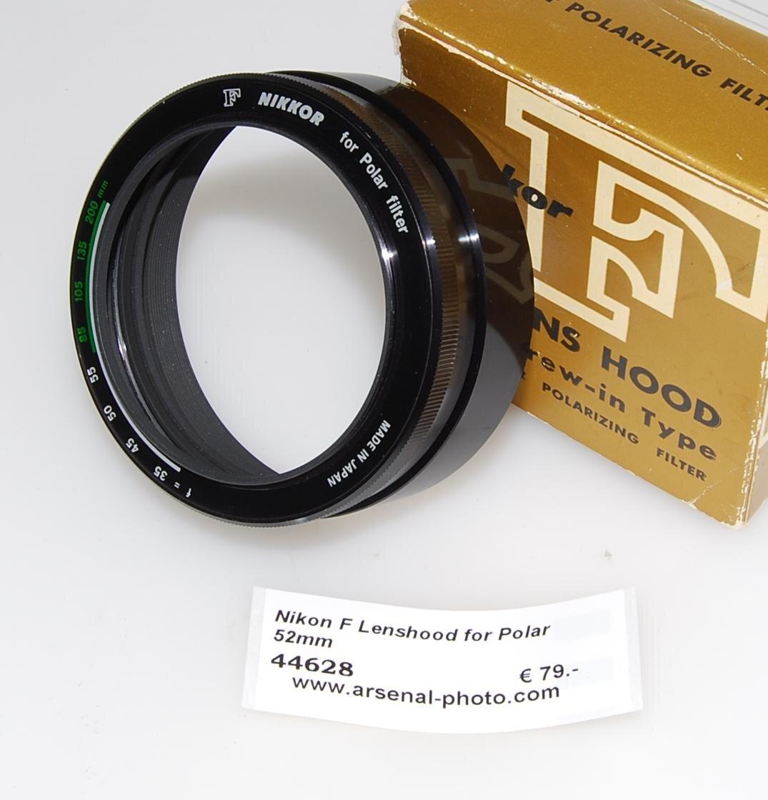 Nikon F Lenshood for Polar 52mm