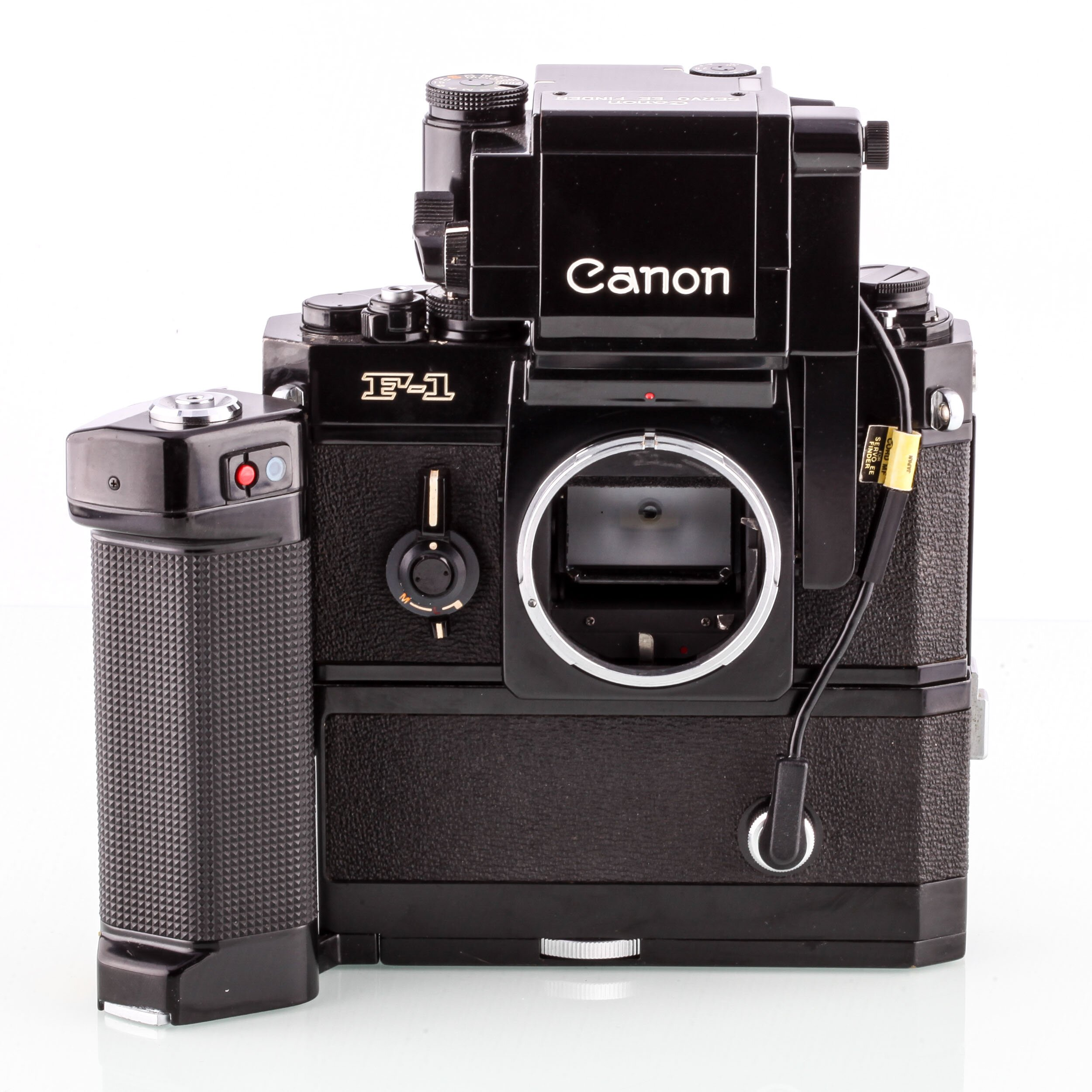 Canon F-1 motor Drive MF + Canon Servo EE Finder