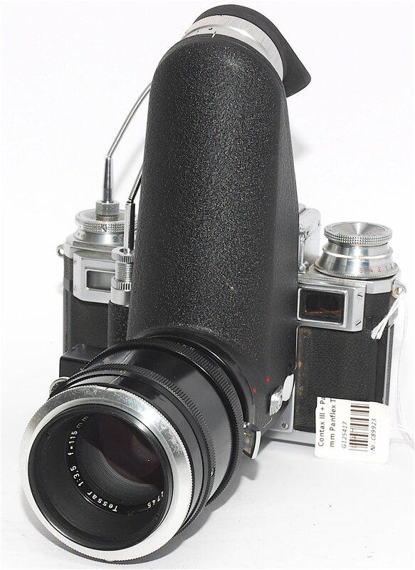 Contax III + Panflex with 115 mm Panflex Tessar very rare