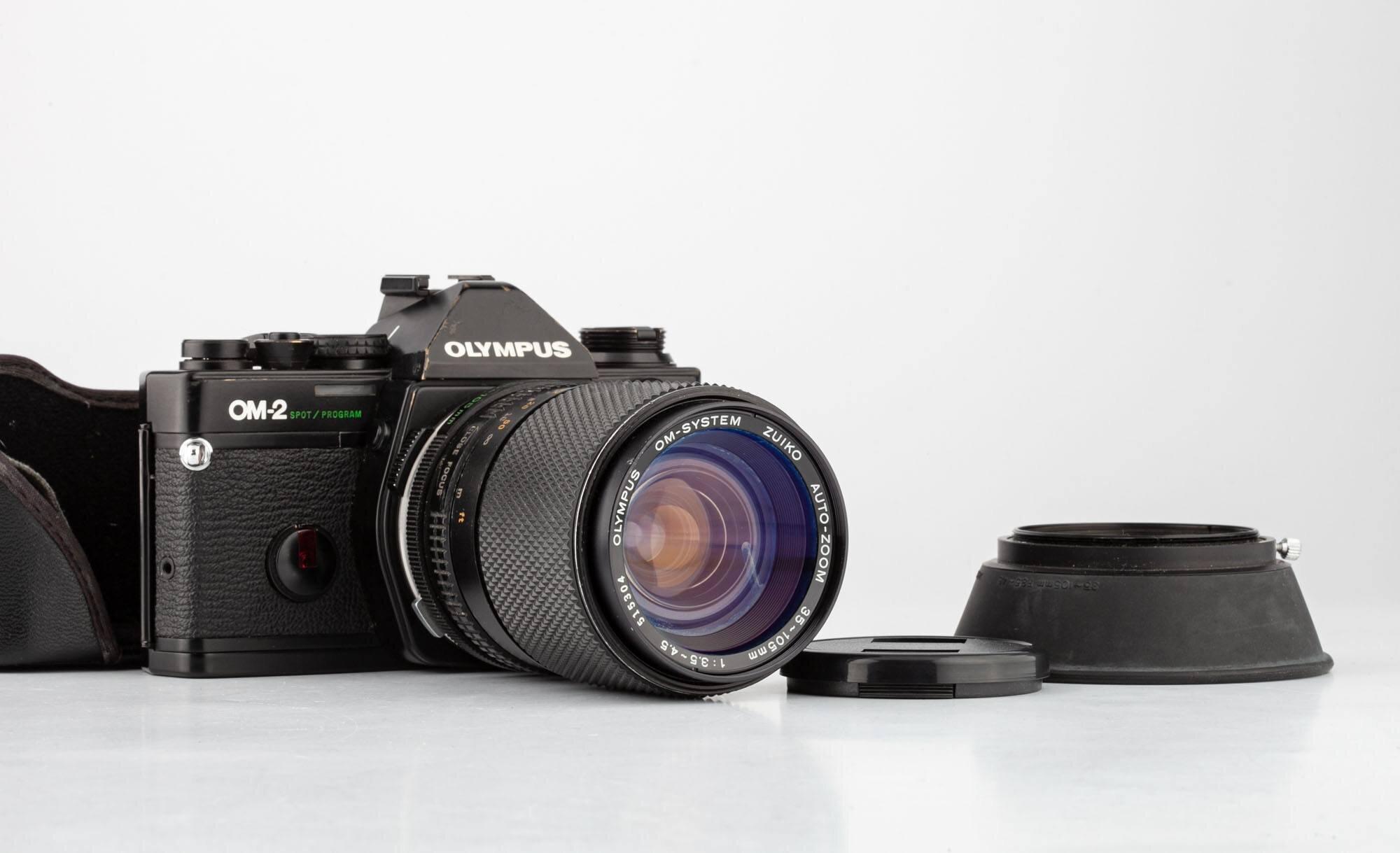 Olympus OM-2 Spot / Program mit Olympus OM Zuiko Auto-Zoom 35-105mm 3,5-4,5
