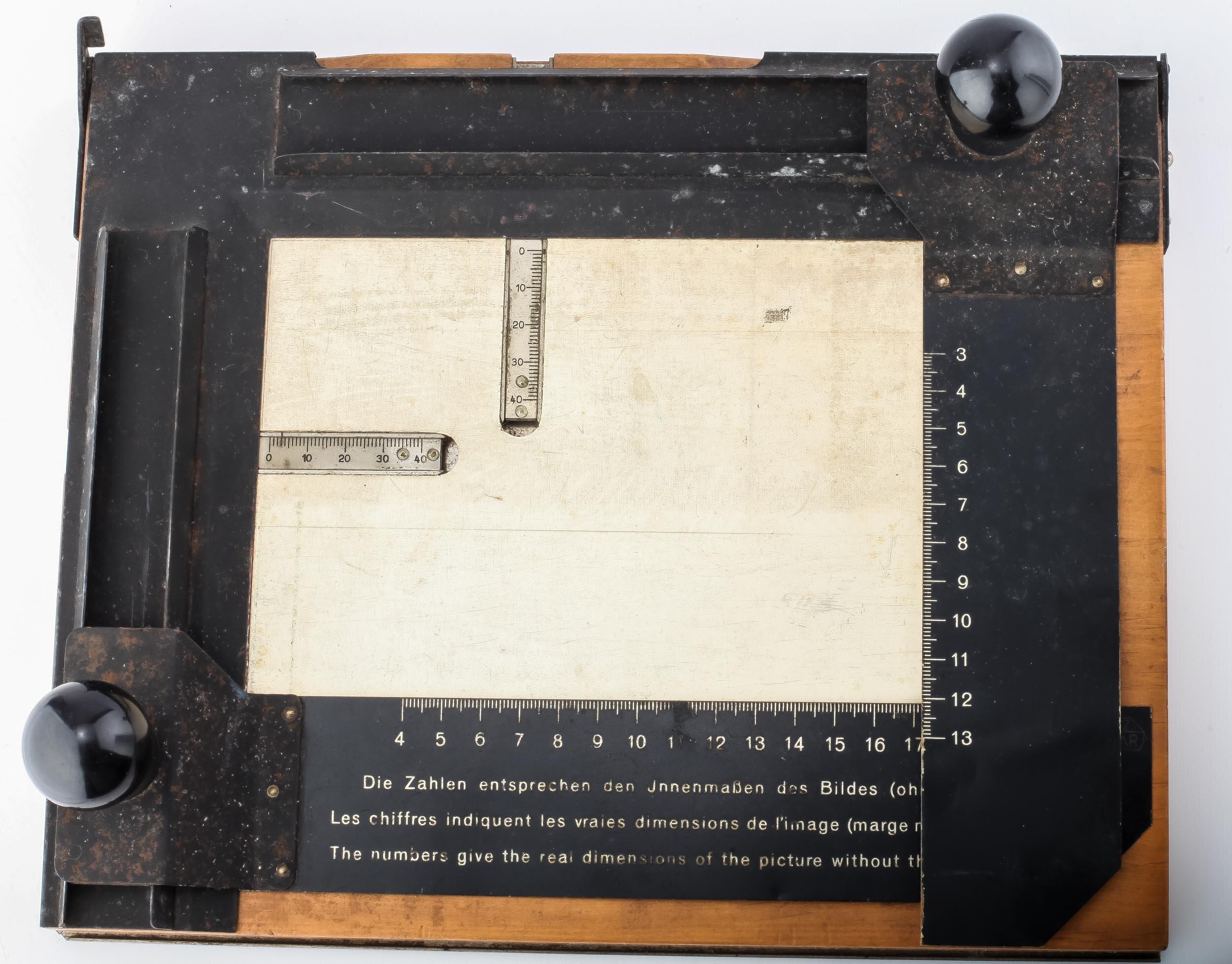 E. Leitz Wetzlar Vergrößerungsrahmen 13x18cm ca 1940 er Jahre